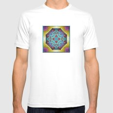 A Southwestern Garden SMALL White Mens Fitted Tee