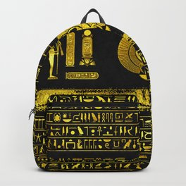 Ancient Egyptian Scarab Gold Obsidian Backpack