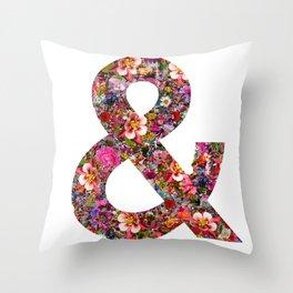 & ampersand print Throw Pillow