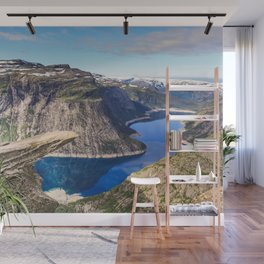 Trolltunga on a Blue Sky Day in Norway Wall Mural