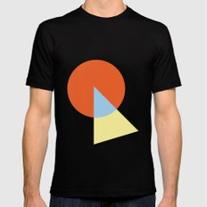 Triangle and circle MEDIUM Black Mens Fitted Tee