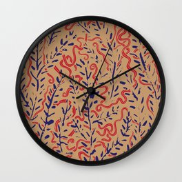 Indian Snakes Wall Clock