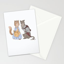 housecats gossip Stationery Cards