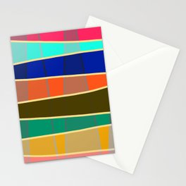 Minimal Colorful Stripes Rainbow Stationery Cards
