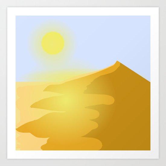 Sand and heat Art Print