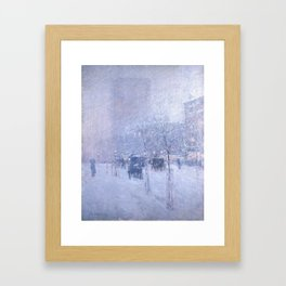 Late Afternoon, New York, Winter by Childe Hassam Framed Art Print