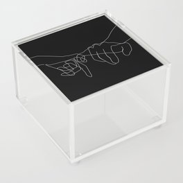 Black Pinky Swear Acrylic Box