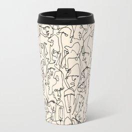 Many Faces Travel Mug