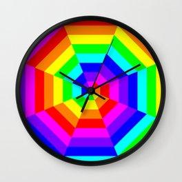 8 Color Octagon Target Wall Clock