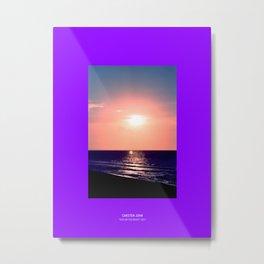 KISS ON THE BEACH Metal Print