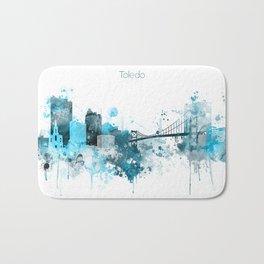 Toledo Monochrome Blue Skyline Bath Mat