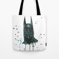 bat man Tote Bags featuring Bat man by McCoy