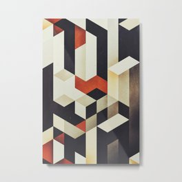 915 // Fallen Heights // Geometric Pattern Metal Print