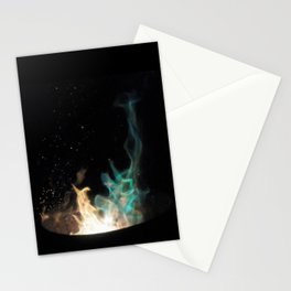 Blue Flames /// Stationery Cards