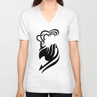 fairy tail V-neck T-shirts featuring Fairy Tail Logo Laxus Version by Prince Of Darkness