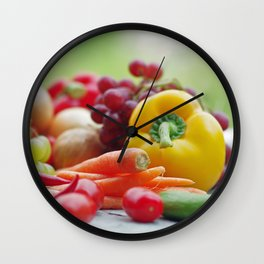 Fruits and Vegetables Variety in the kitchen Wall Clock