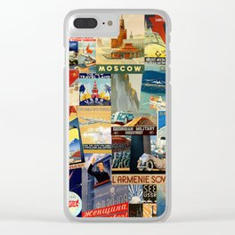 Russian Travel 1 Clear iPhone Case