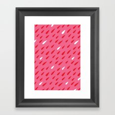 Red + Pink Droplets Framed Art Print
