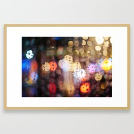 Rainy Night in Taiwan Framed Art Print