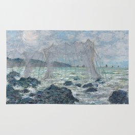 Fishing Nets at Pourville by Claude Monet Rug