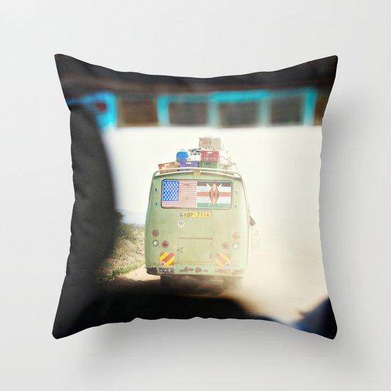 on the road::kenya Throw Pillow