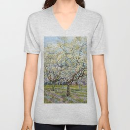 The White Orchard by Vincent van Gogh Unisex V-Neck
