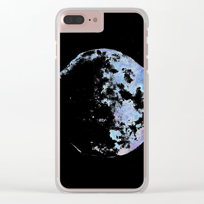 blue moon 02 Clear iPhone Case