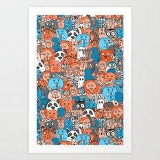 plushies retro Art Print