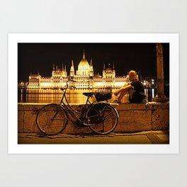 Budapest at night Art Print