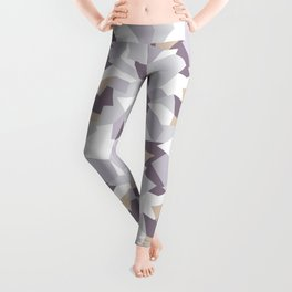 Violet abstract forms Leggings