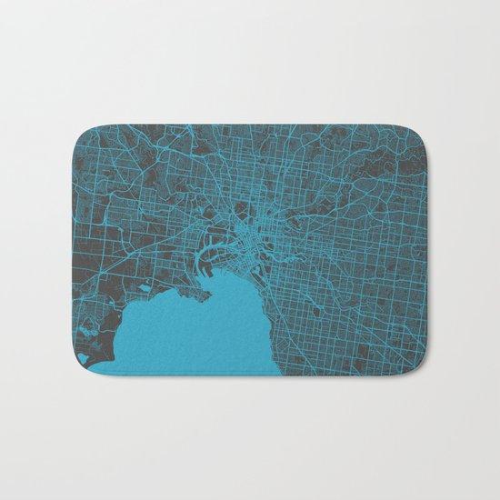 Melbourne map Bath Mat