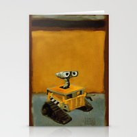 rothko Stationery Cards featuring Wall-E and Rothko by Renee Bolinger