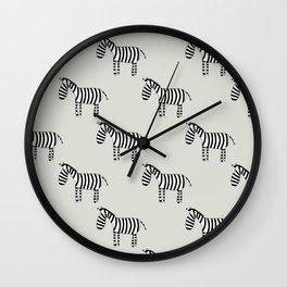 On the savannah - Fabric pattern Wall Clock