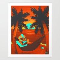 tiki Art Prints featuring Tiki  by Shana Patry