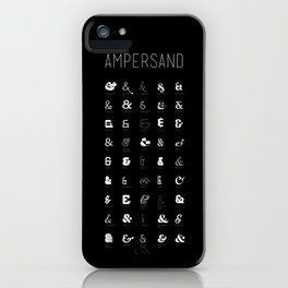 Ampersand Poster iPhone Case