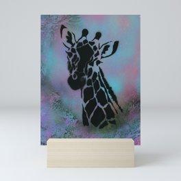 Cotton Candy Giraffe Mini Art Print