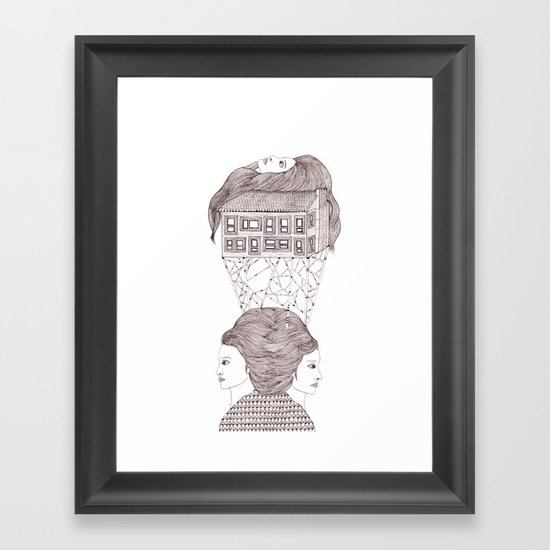 North, East, West Framed Art Print