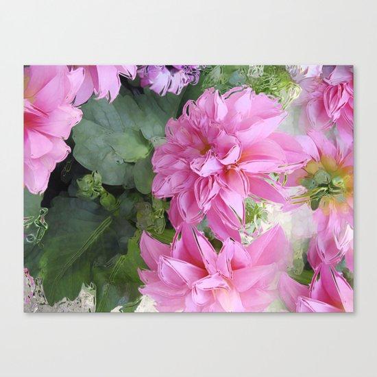 Delicious Dahlia's Canvas Print