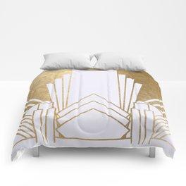 Art Deco design - blonde Comforters