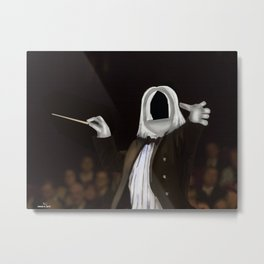 Corky the Conductor Metal Print