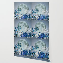 Super Moon v2 - Blue #buyart Wallpaper