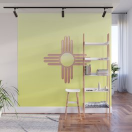 Flag of new mexico  -with color gradient Wall Mural