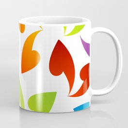 Four seasons leaves- colorful leaves to symbolize seasons Coffee Mug