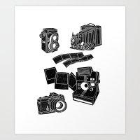 Weapons Of Mass creation - Photography (block print) Art Print