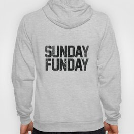 Sunday Funday Dirty Vintage Varsity Typography Print Hoody