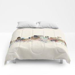 nashville city skyline Comforters