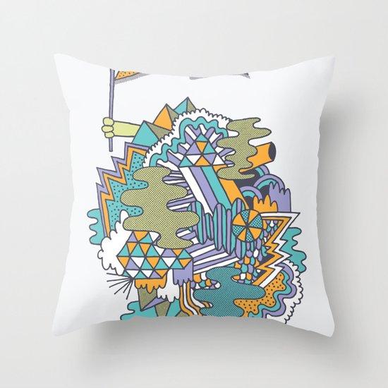 Huzzah! Throw Pillow
