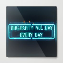 Dog Party Metal Print