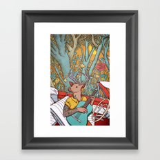 A ride and a song Framed Art Print