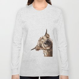 Sneaky Highland Cow Long Sleeve T-shirt